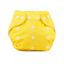 Baby One Size Leak-free Diaper Cover With Snap Closure (3-13KG,Yellow)