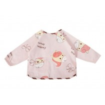 Cute Cartoon Cotton Waterproof Sleeved Bib Baby Feeding Bibs Style C, 2-5 Years