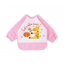 Cartoon Little Fawn Waterproof Baby Bib Kids Painting Smock PINK, 1-3 Years