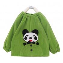 Cute Panda Baby Bib Kids Painting Smock Baby Overclothes GREEN (HEIGHT 100CM)