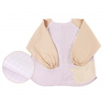 Checkered Cotton Waterproof Baby Bib Overclothes Kids Painting Smock, 1-2 Years