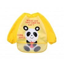 Cute Cartoon Waterproof Sleeved Bib Baby Smock Baby Bibs Panda, 0-3 Years