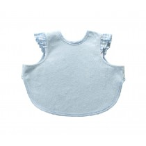 Cute Waterproof Baby Bib Bamboo Fabric Baby Feeding Smock BLUE, 6-36 Months