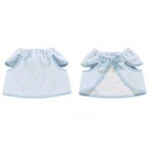 Pure Cotton Sleeveless Baby Bib Baby Smock Baby Feeding Bibs BLUE, 0-3 Years