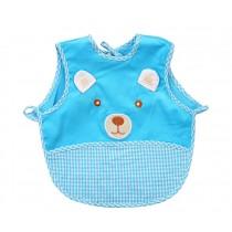 Cute Cartoon Bear Sleeveless Baby Bibs Baby Feeding Bibs BLUE, 0-1.5 Years