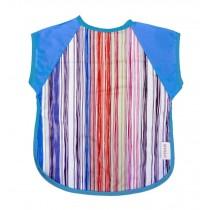 Summer Cotton Waterproof Short Sleeved Bib Baby Feeding Smock COLORFUL, 1-3Years