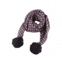 Winter New Baby Scarf Fashion Tassels Scarf, Dark Blue