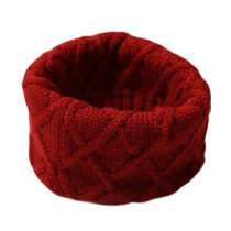 Children Soft Ribbed Knit Circle Loop Scarf Pullover Warm Scarf Muffler