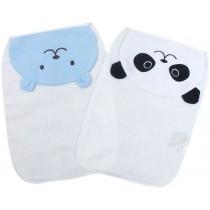 2 Lovely Bear/Panda Baby Cotton Gauze Towel Wipe Sweat Absorbent Cloth Mat Towel