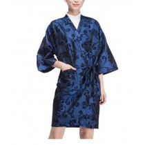 Salon Client Gown Upscale Robes Beauty Salon Smock for Clients, Blue