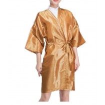 Salon Client Gown Upscale Robes Beauty Salon Smock for Clients, Gold