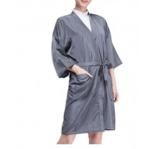 Salon Client Gown Upscale Robes Beauty Salon Smock for Clients, Gray