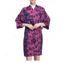 Salon Client Gown Upscale Robes Beauty Salon Smock for Clients, Purple