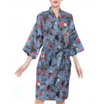 European Style Salon Client Gown Robes Hairdressing Gown for Clients,Denim color