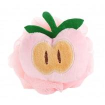 4 Pieces Lovely Apple Soft Bath Sponge/Child Body Sponge(Diameter:10 cm)