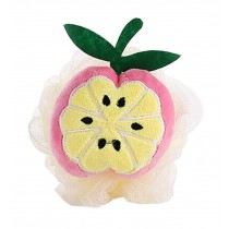 4 Pieces Cute Orange Soft Bath Sponge/Lovely Child Body Sponge(Diameter:10 cm)
