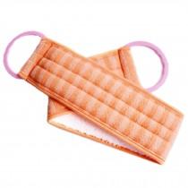 Scrubber Bath Exfoliating Bath Soft Belt Body Bathing Towel(Orange)