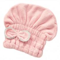 Microfiber Bath Towel Hair Dry Hat Quick Drying Bath Cap For Short Hair(Pink)
