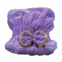 Microfiber Bath Towel Hair Dry Hat Quick Drying Bath Cap For Short Hair(Purple)
