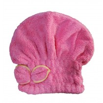 Bath Cap/Dry Hair Cap/Super Absorbent Speed Dry Hair Towel/Long Hair(Rose Red)