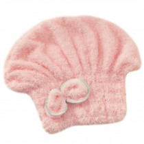 Microfiber Bath Towel Hair Dry Hat Quick Drying Bath Cap For Long Hair(Pink)