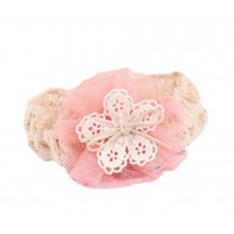 Beautiful Pink Bow Girl Headdress Lace Headband Baby Accessories