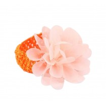 Elegant Orange Lotus Girl Headdress Lace Headband Baby Accessories
