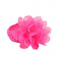 Elegant Rose Red Lotus Girl Headdress Lace Headband Baby Accessories