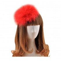 Beautiful Charming Feather Hairpin for Parties/Stage/Wedding,Red