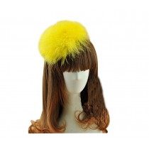 Beautiful Charming Feather Hairpin for Parties/Stage/Wedding,Yellow