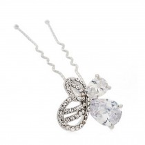 Noble Bride Alloy Diamond Butterfly Pattern Hairpin Hair Ornaments