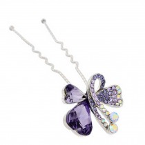 Fashion Bride Alloy Diamond Butterfly Pattern Hairpin Hair Ornaments