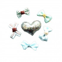 6 Pieces Small Bowknot Snap Clips Hair Pins Hair Accessories for Fine Hair