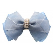 2 Pcs Hair Ornaments Hairpin Silk Gauze Folder Princess Clip hair Chuck Jewel