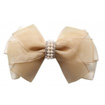 2 Pcs Elegant Hair Chuck Hair Ornaments Hairpin Silk Gauze Folder Princess Clip