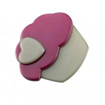 Set of 2 Cake Hair Pin Fashion Hair Clip Creative Hairpin,Red/Green