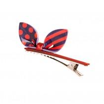 Set of 2 Rabbit Ear Hair Pin Fashion Hair Clip/Hairpin,Red/Purple