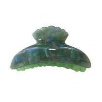 Jelly Color Hairpin Wavy Edge Hair Claw Elegant Hair Claw Hair Clip(Green)
