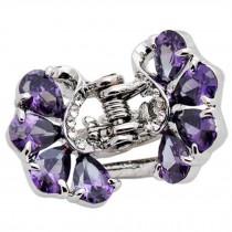 Sweet Hair Claw Elegant Hair Clip Small Size Claw/Hairpin(Purple)