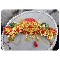 Classical Traditional Chinese Wedding Exquisite Hair Accessory With Hairpins