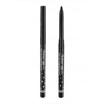 Rotating Waterproof Eyeliner Pen Bold Makeup Pencil Eye Liner SILVER DRILL BLACK