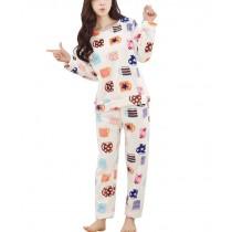 [Love Cups] Fashion Soft Warm Flannel Pajama Set, L (Asian Size)