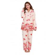 Floral Print Pajama Set for Women, Medium