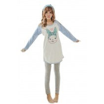 Cozy LOL Bunny Women Pajama Set Casual Household Clothes, M