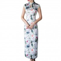 Chinese Style Cheongsam Dress Qipao Dress Cap Sleeve Cocktail Dress Party Dress