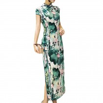 Simple but Elegant Chinese Traditional Dress Qipao Mandarin Collar Cheongsam