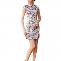 Bodycon Short Cheongsam Chinese Traditional Dress Thin Qipao Dress Cocktail Dres