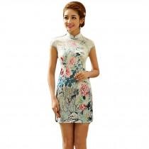 Fashion Chinese Style Cheongsam Elegant Retro Cheongsam A (Large)