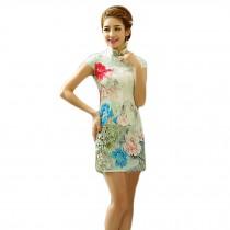 Fashion Chinese Style Cheongsam Elegant Retro Cheongsam B (Large)