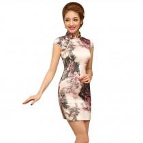 Fashion Chinese Style Cheongsam Elegant Retro Cheongsam C (Large)